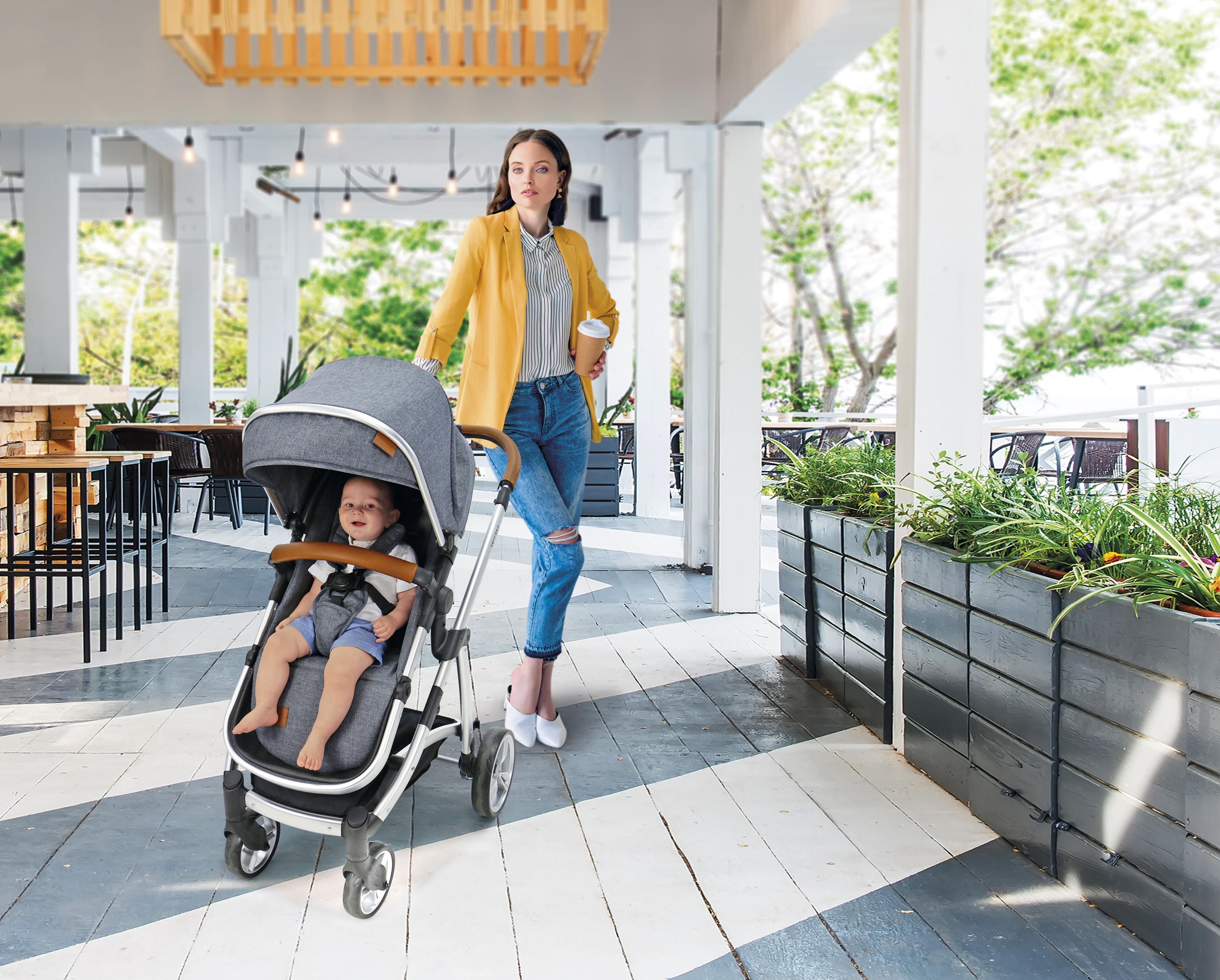 carrito de bebé trio de Asalvo